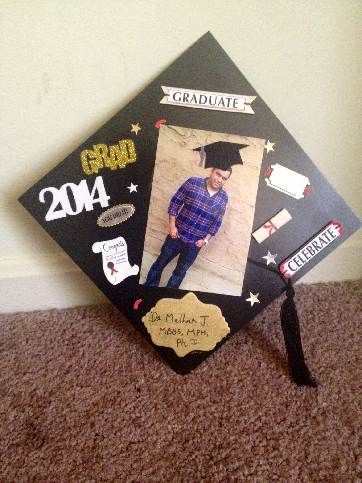 Diy grad cap for hubby diy grad cap phd graduation