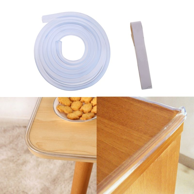 Mother & Kids Safety Equipment Baby Table Protector For Furniture Corner Guards Soft Silicone Cover For Furniture Wall Edge Bumper Strip Corner Protector 1m