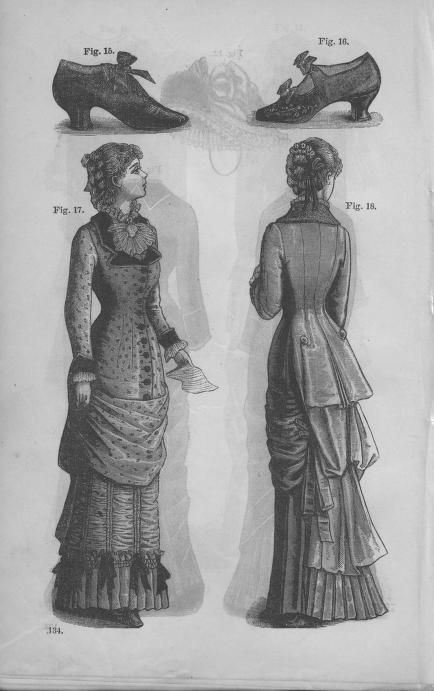 Godey's Lady's Book Volume 101 July To December 1880    Love those shoes!