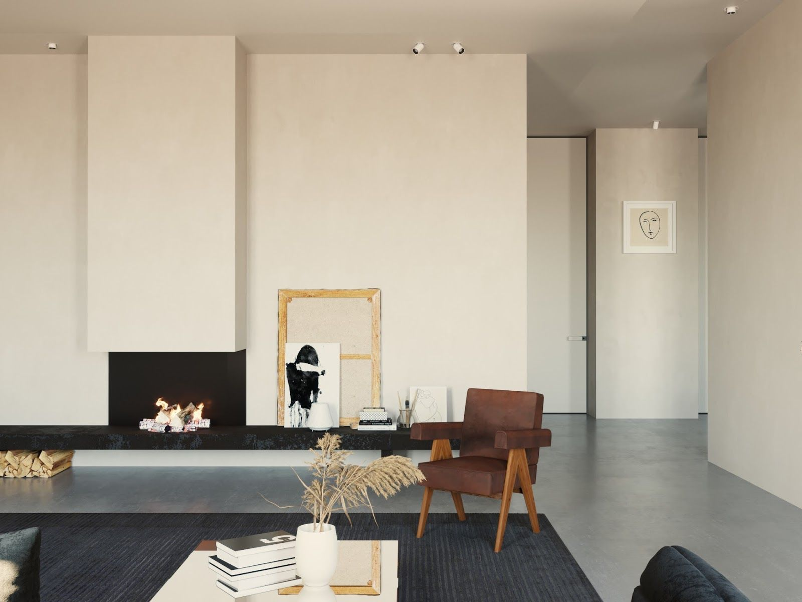 A bright and minimal interior interiors minimalistisch