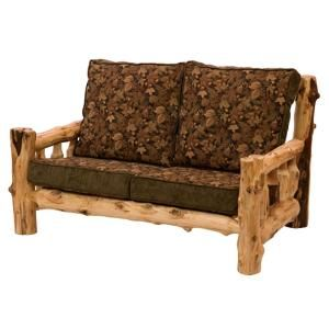 Cedar Log Loveseat