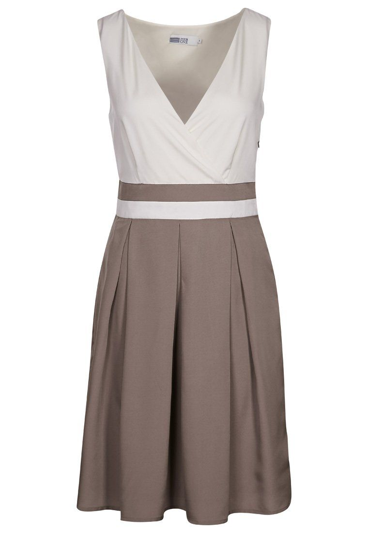 Swing cocktailkleid taupe