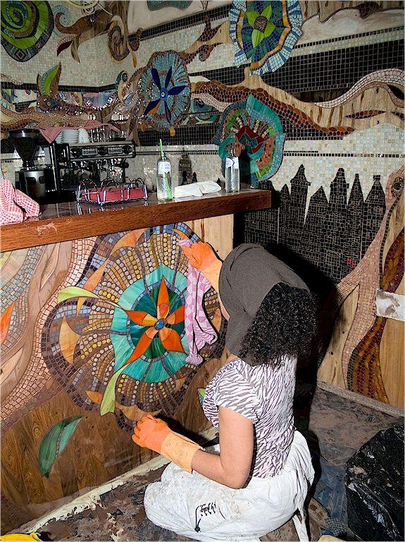 Mozaiek In Abraxas Too Coffee Shop Love This Mosaic Murals