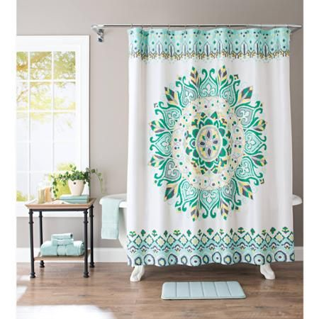 Better Homes and Gardens Global Tapestry Fabric Shower Curtain ...