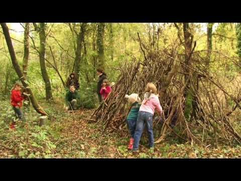 Neroche Bushcraft (whittling, building shelters, fires..) YouTube