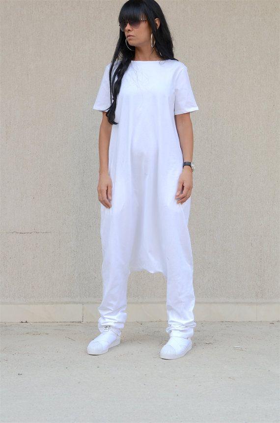 dd646bf432230 ON SALE WHITE Jumpsuit / Loose Jumpsuit / Maxi white jumpsuit / Oversize  jumpsuit / White plus size jumpsuit / woman loose jumpsuit