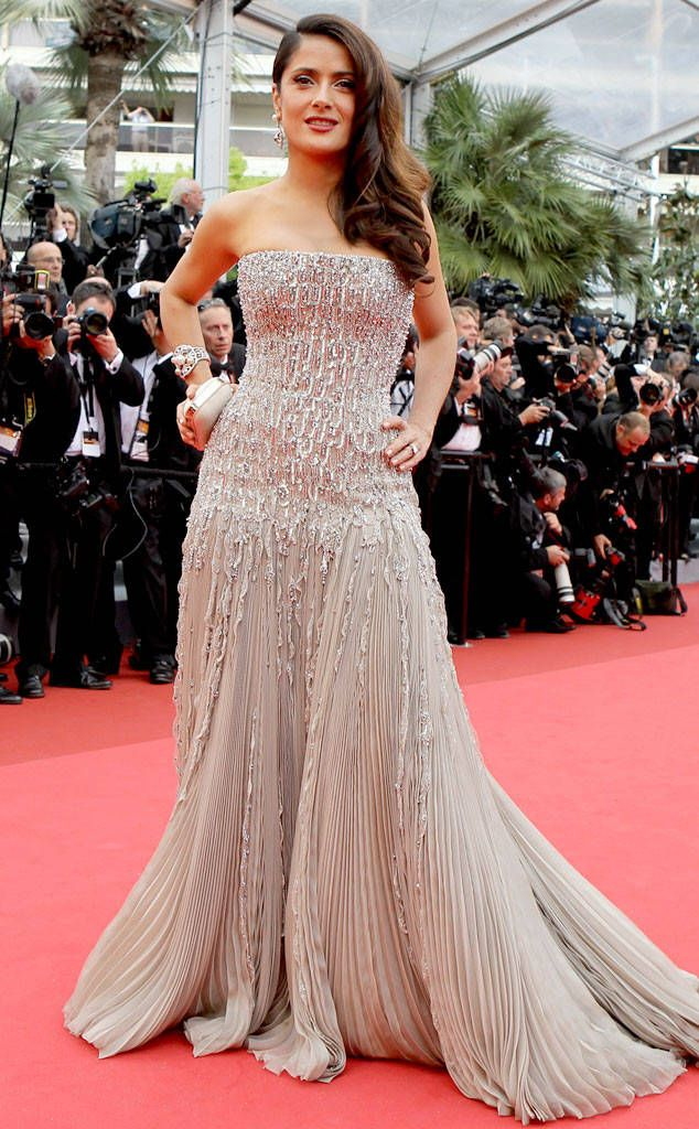 Salma Hayek from Cannes Film Festival: Best Dressed Ever  In Gucci in 2011.