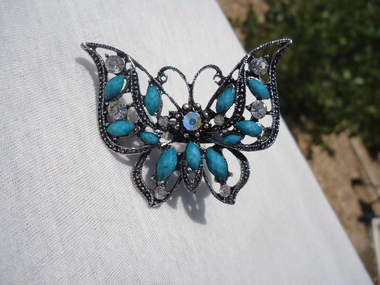 Sly Blue Beaded Butterfly Ring. 10.00, via Etsy. Toe