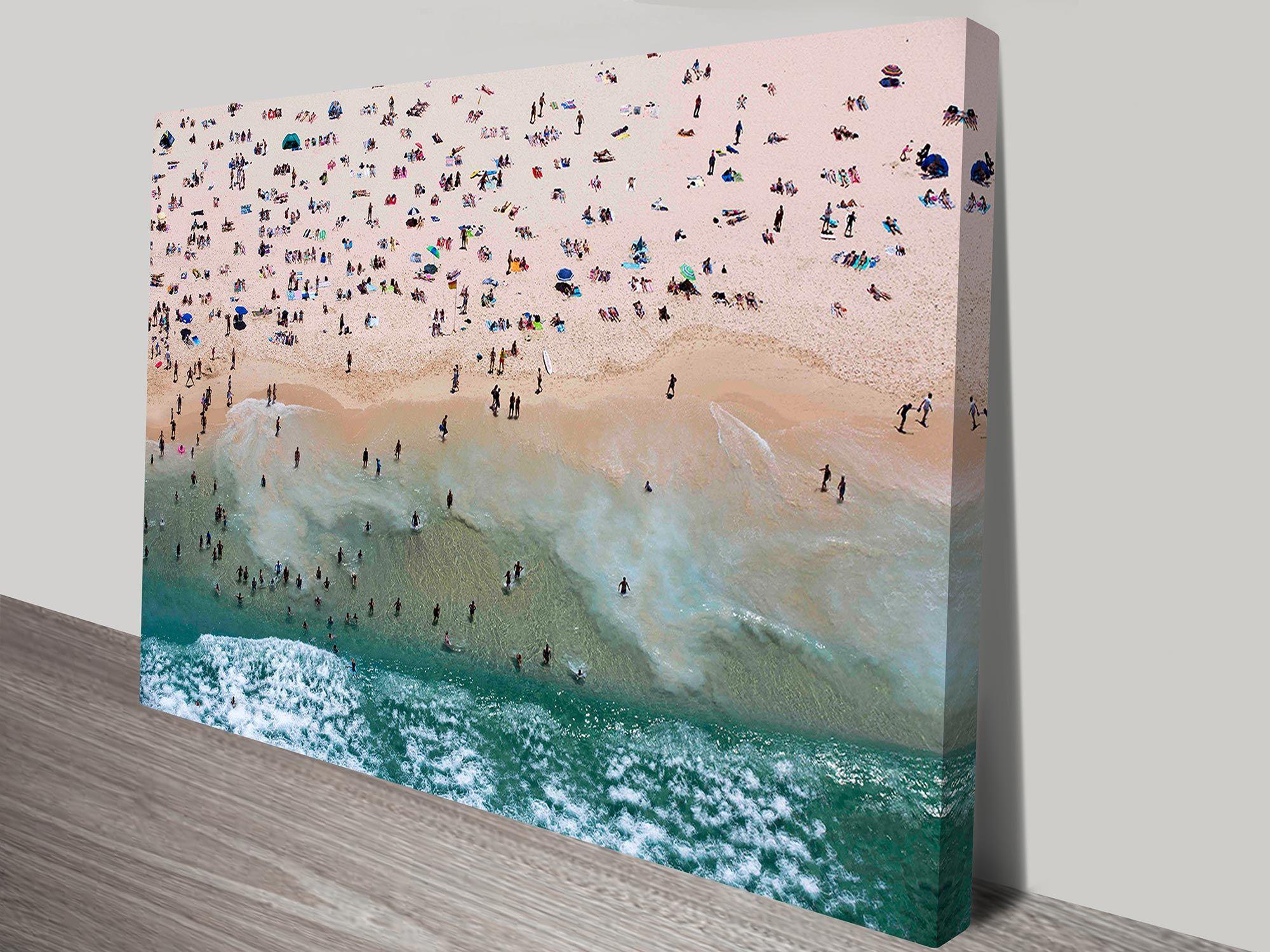 Bondi Beach Aerial Photo On Canvas Art Print Sydney Australia