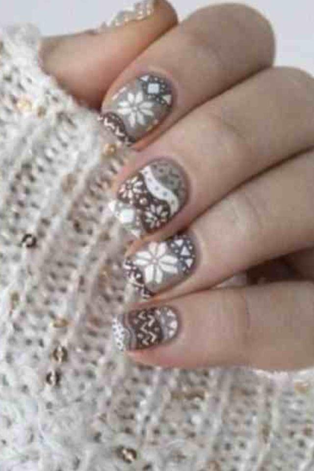 Cute Winter Design Nails Pinterest Nagel