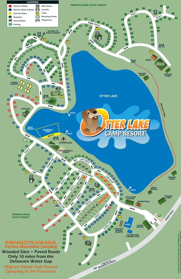 Otter Lake Camp Resort Site Map Camping In 2019 Lake