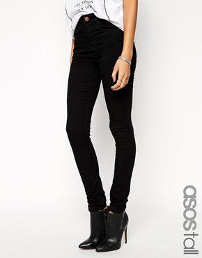 Agrandir ASOS TALL - Ridley - Jean long taille haute - Noir   Styles ... 2cd2cee33258