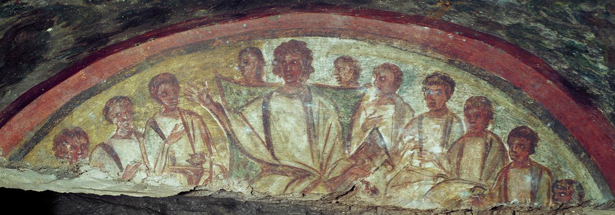 Christ and the Apostles, Catacombs of Domitilla, 4th ...