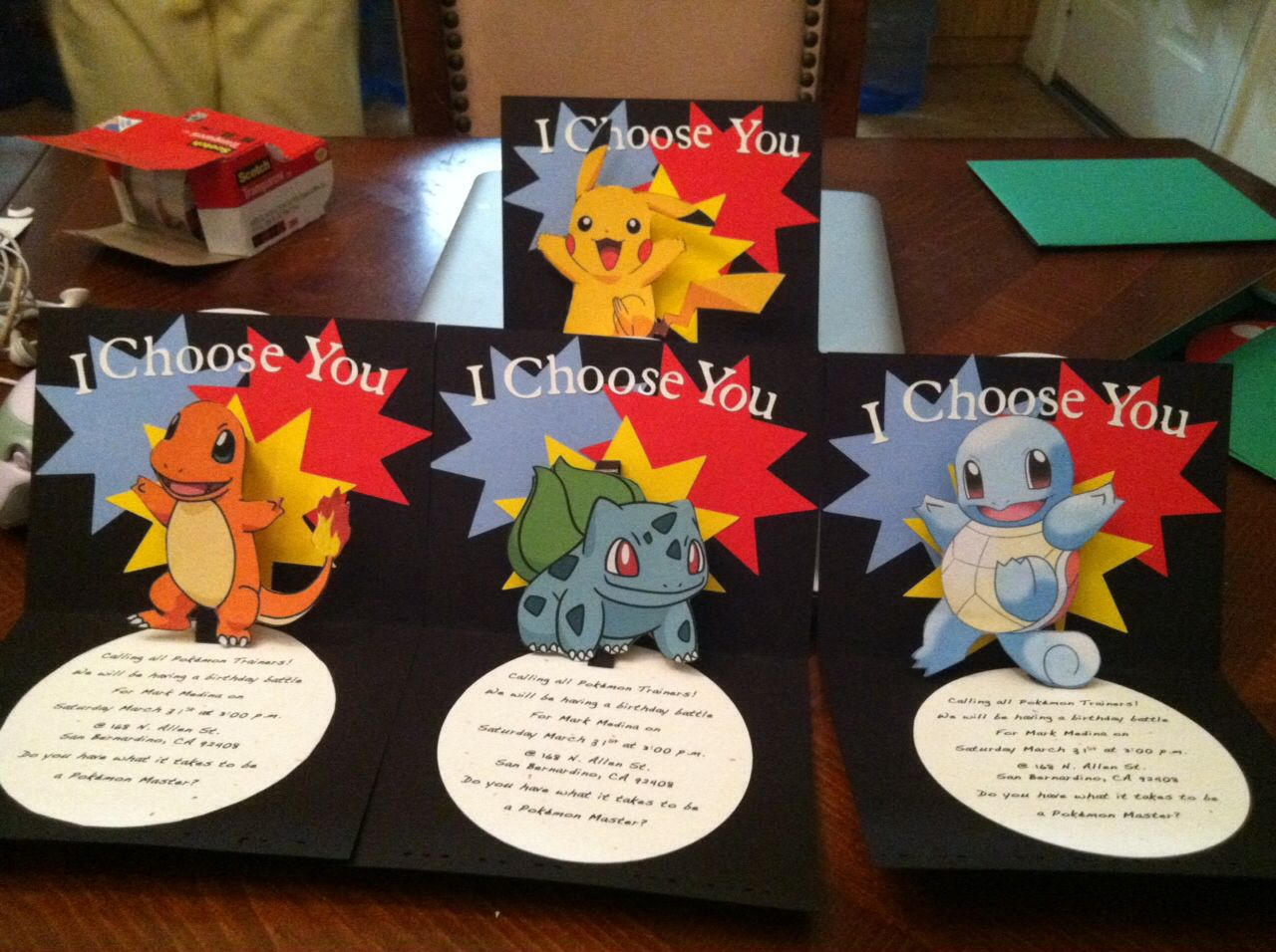 Top Cricut Pokemon Pop Up Birthday Invitation. Made this so Once the  WL28