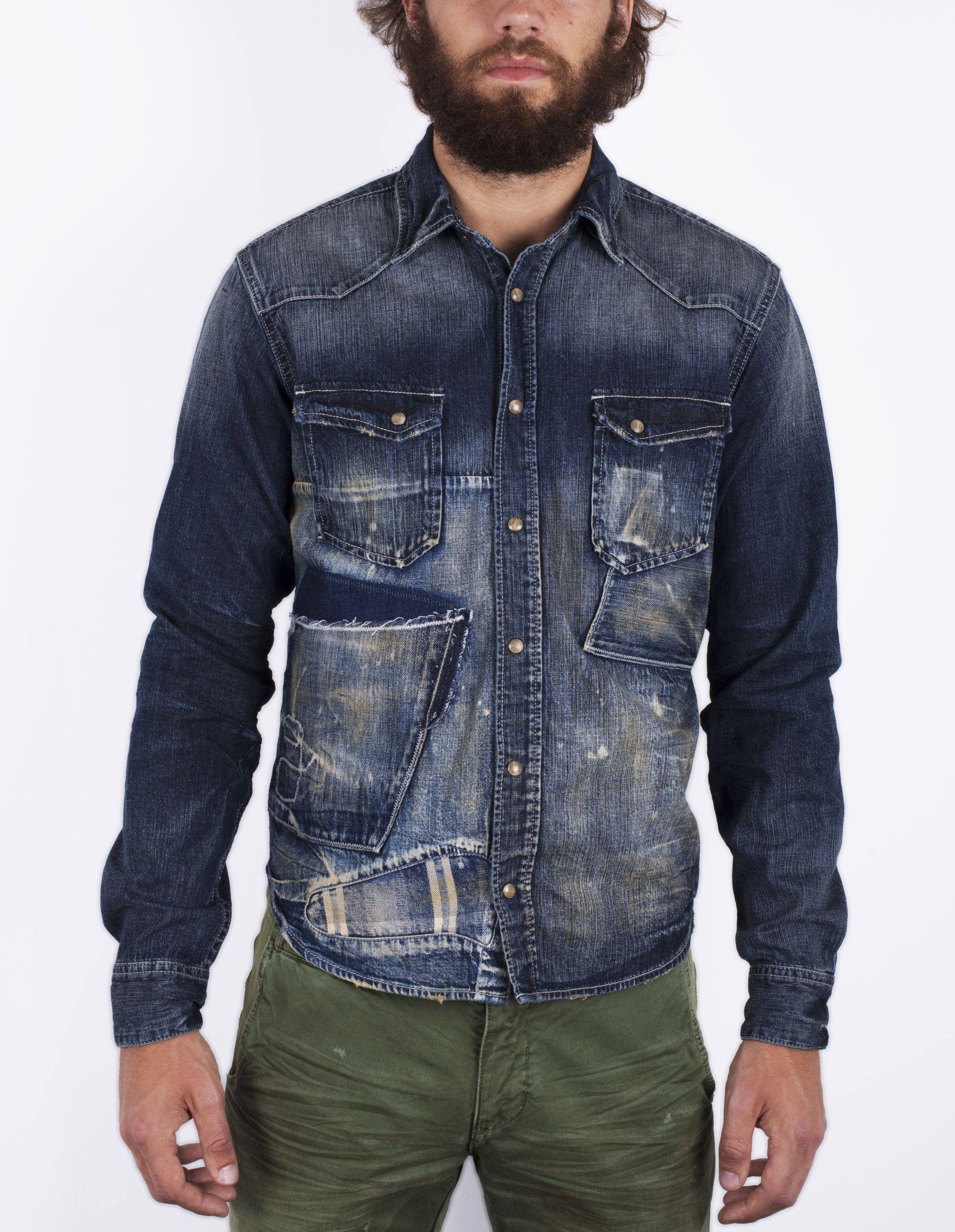 Prps Denim Button Down Shirt Demin Designer Mens Denim