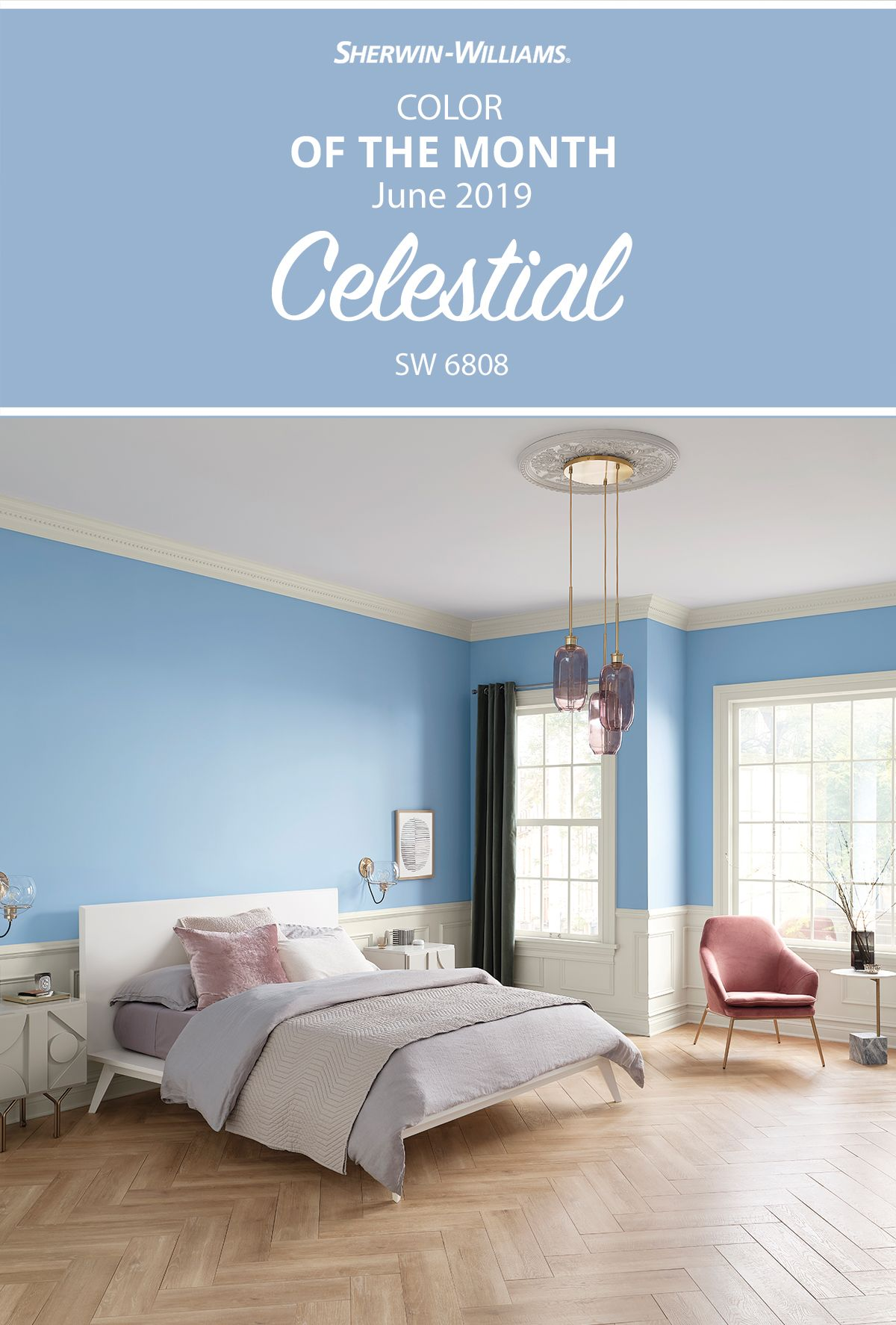 For Your Next Diy Bedroom Paint Project Shoot For The Stars With The Sherwin Williams Color Of The Mont Blue Room Paint Bedroom Wall Colors Blue Bedroom Paint