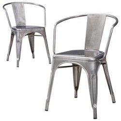 Carlisle Metal Dining Chair   Natural Metal (Set... : Target