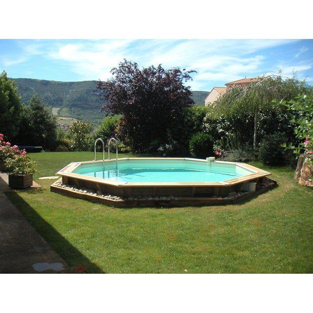Piscine Hors Sol Bois Ouessant 510 H120cm Gris Ubbink Piscine Hors Sol Bois Piscine Hors Sol Piscine Bois