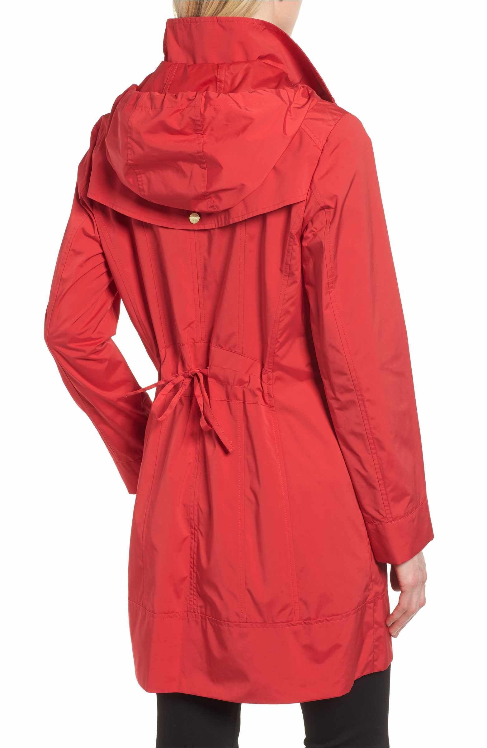 Main Image - Cole Haan Signature Back Bow Packable Hooded Raincoat (Regular    Petite) 86e0f870e