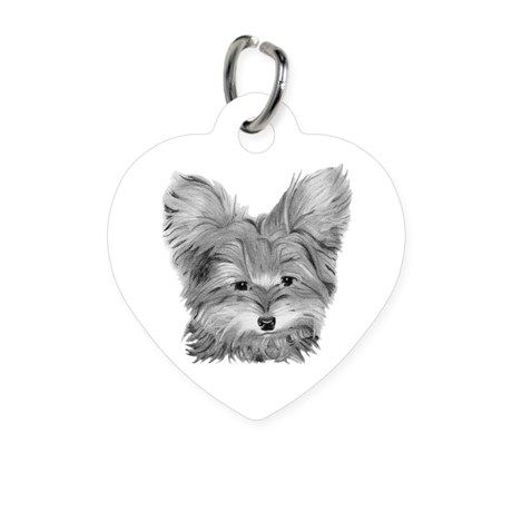 large template yorkie.jpg cleaned Heart Pet Tag
