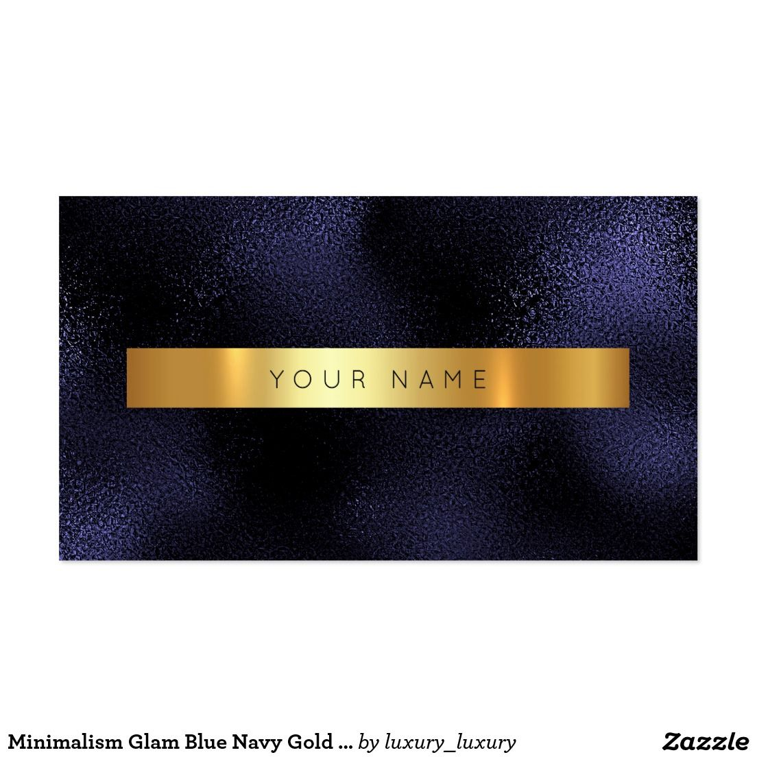 Minimalism Glam Blue Navy Gold Metallic Vip Business Card ...