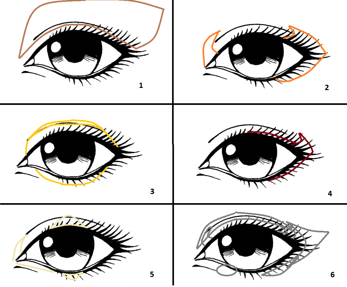 Basic Demi-lid Eyeshadow Shapes Guide (x-posted from /r/HoodedEyes #styled247