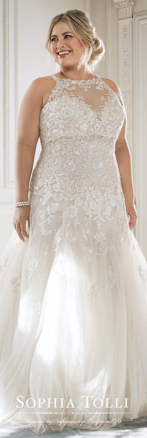 Boho wedding dress plus size  Plus Size Perfection from Sophia Tolli  Brautkleider Plus Size