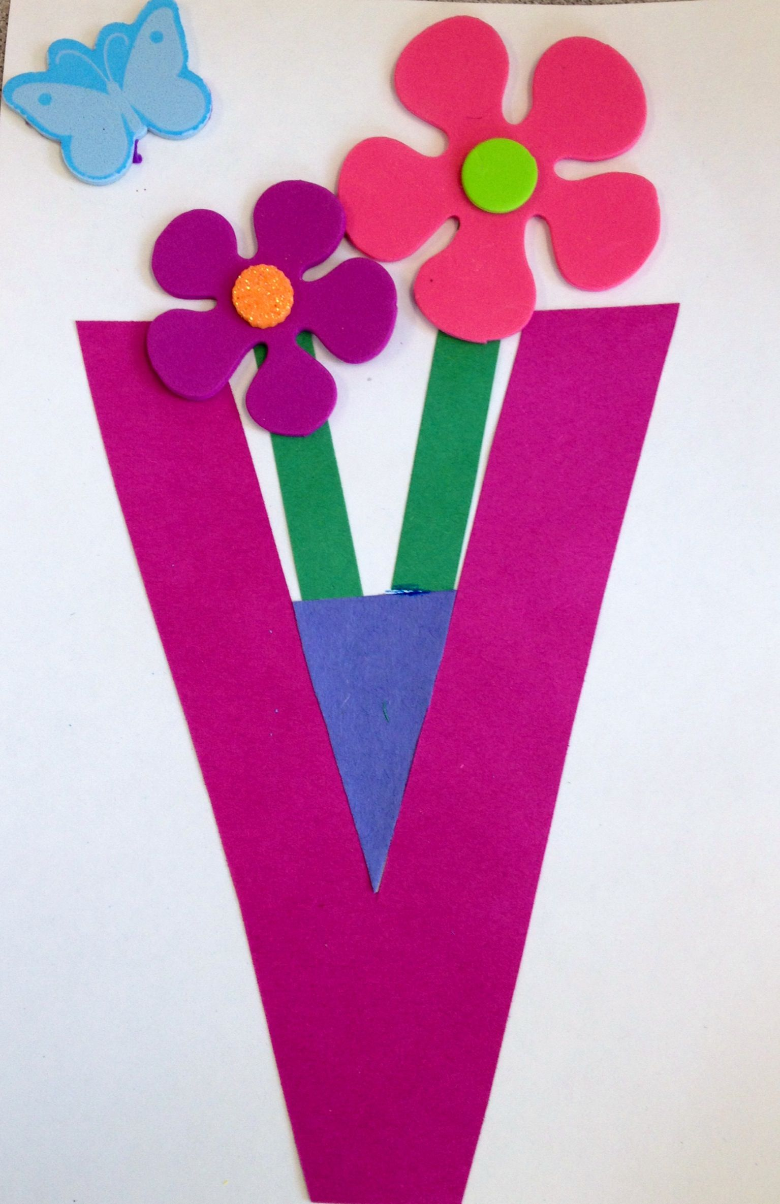 Letter V Craft Preschool