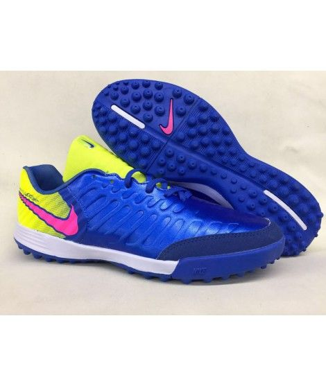 Nike Tiempo Legend VII TF Herren Fußballschuhe Blau Gelb Rot