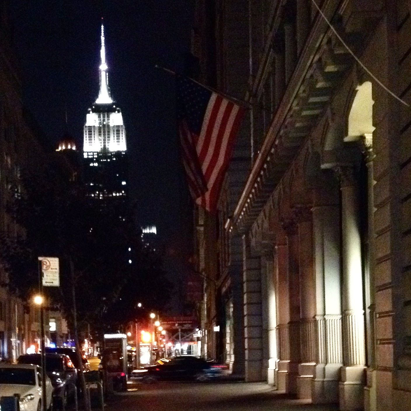 Watching The Empire State Building Light Up And Counting