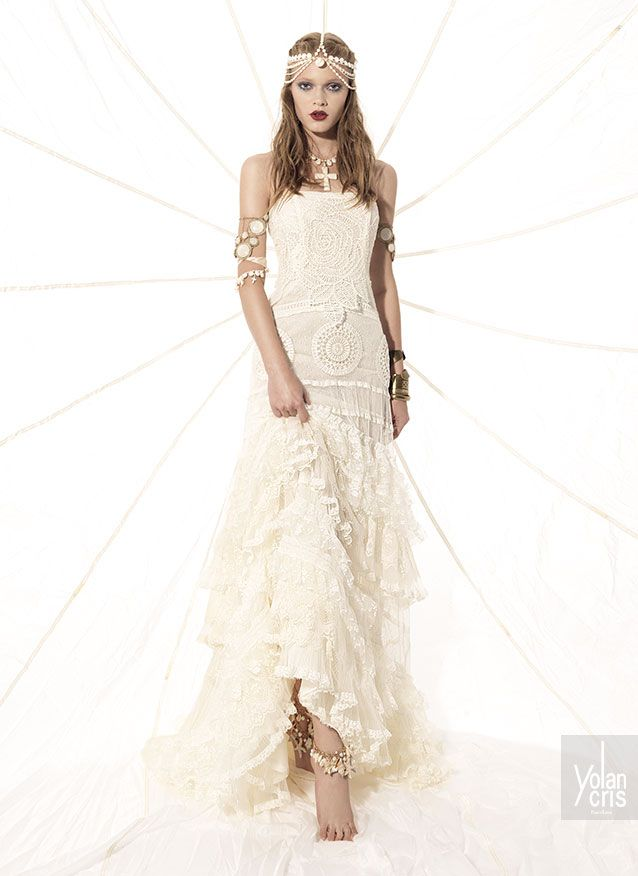 Vestidos novia hippie chic