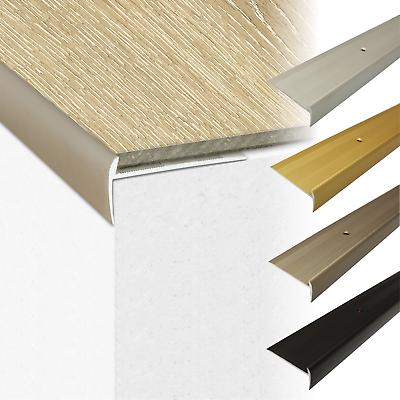 STAIR NOSINGS aluminium step edging trim anti slip edge for carpet wood laminate