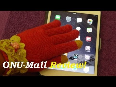 A pretty new and fashionable  touch glove for boys and girls instead of stylus touch pen not only keep warm but is specifically freely used for smartphone from ONU-Mall.com