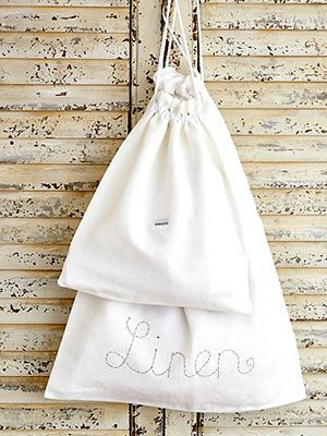 Sew linen laundry bags :: Free sewing patterns UK | Sewing ...