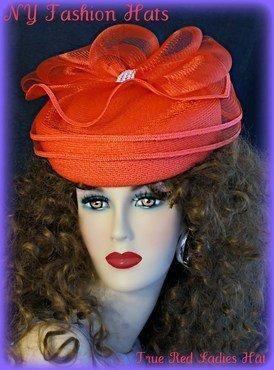 Classy red formal hat
