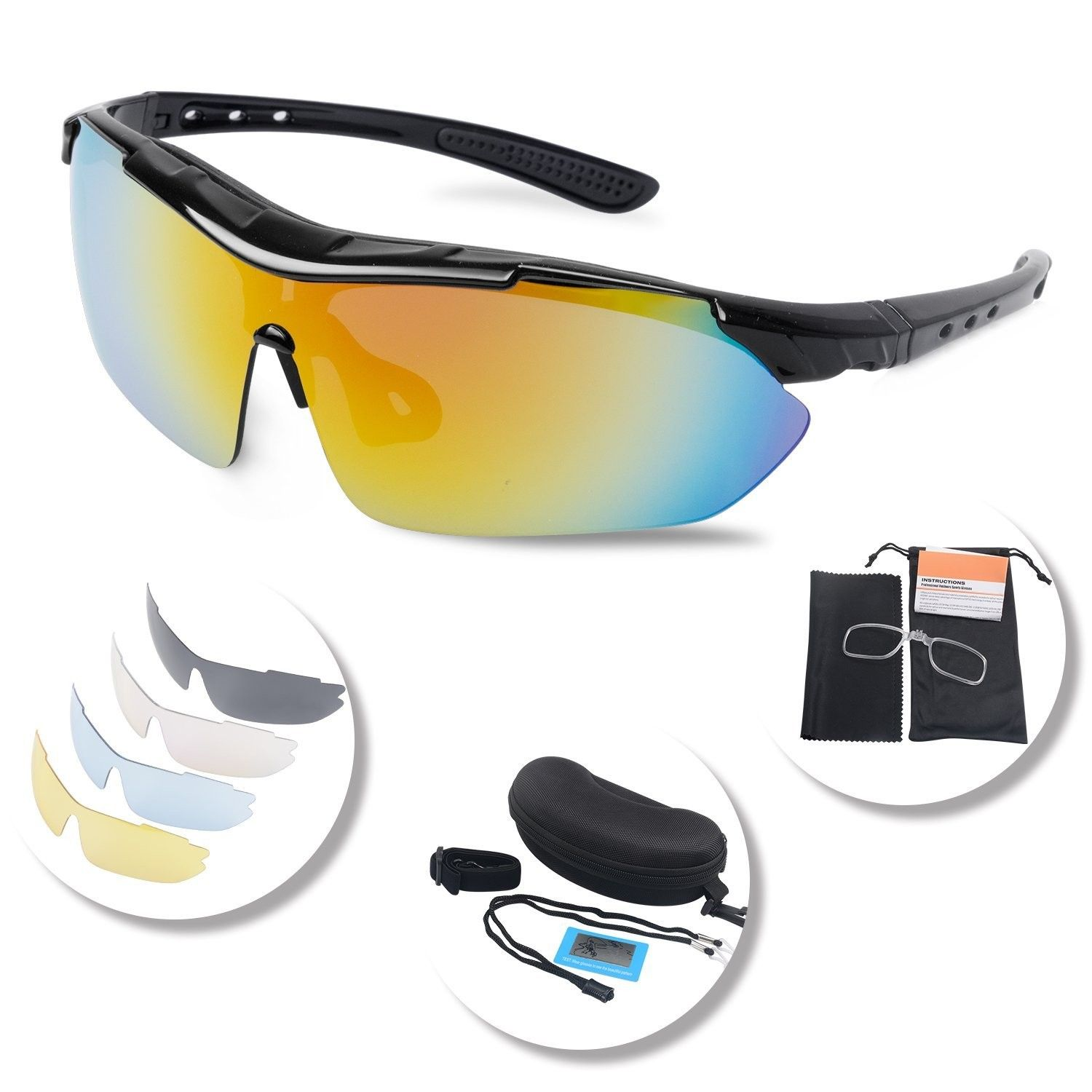 e7a0bc453a Polarized Sunglasses Interchangeable Protection - Black -  CE188ENOOWS-Women s Sunglasses