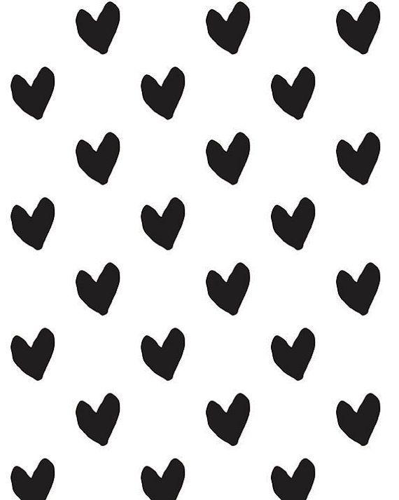 Black And White Heart Pattern Instant Download Art Printable Art Hearts Love Print Art Print Abstract Hearts Download In 2021 Black And White Heart Black And White Background Black And White