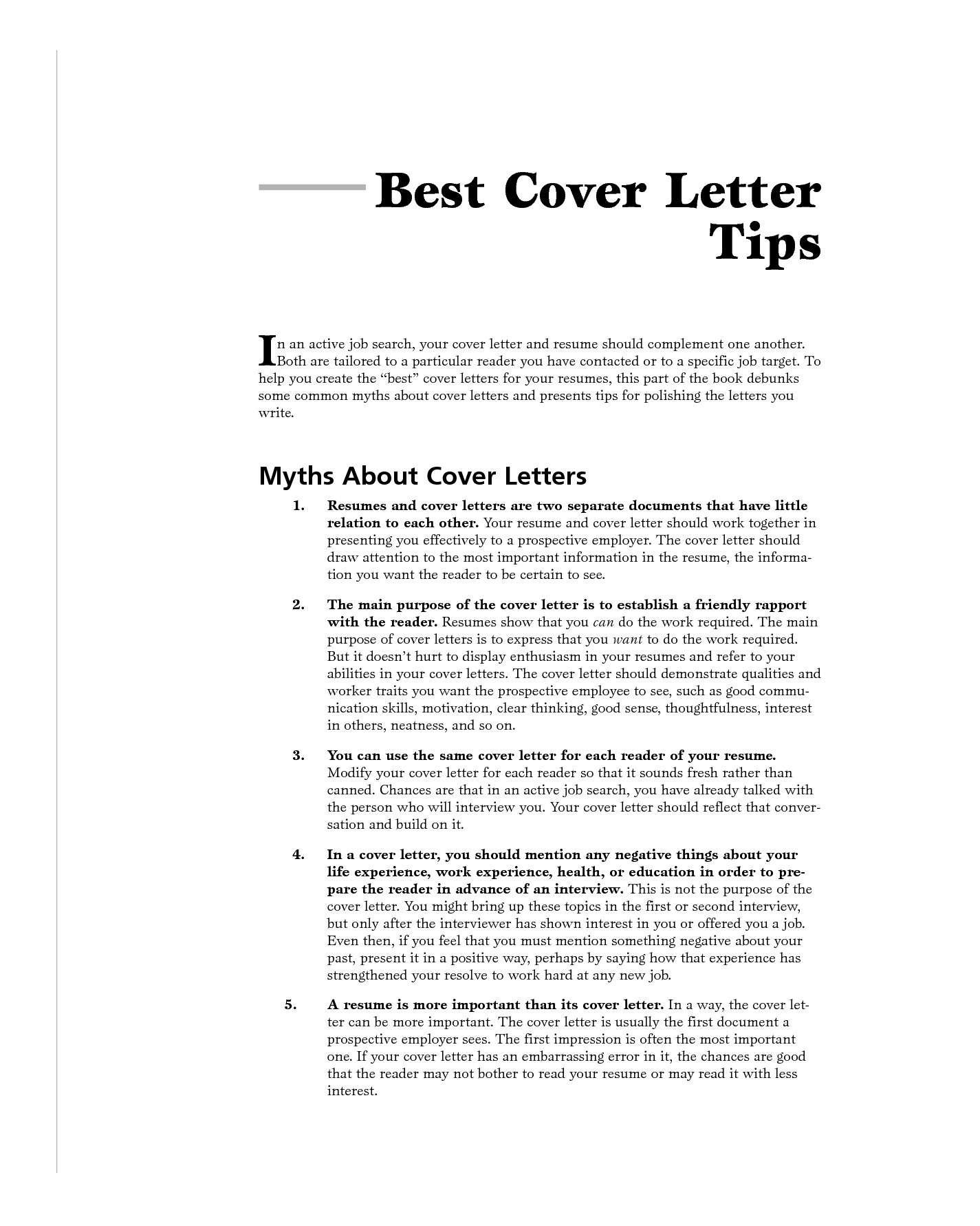 Same Cover Letter. 6 Things Your Cover Letter Should Never