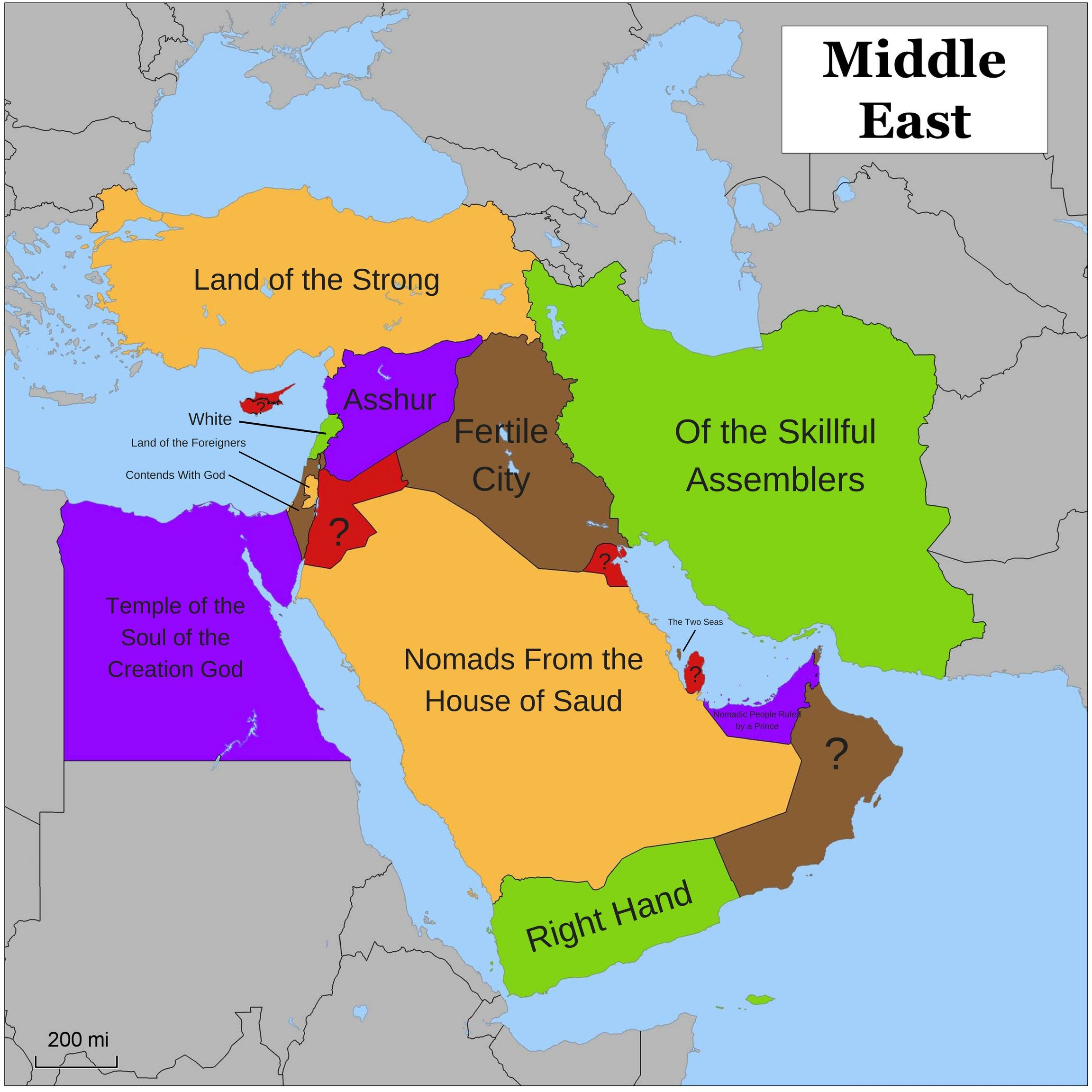 Etymology of Country Names - Middle East | Great Maps