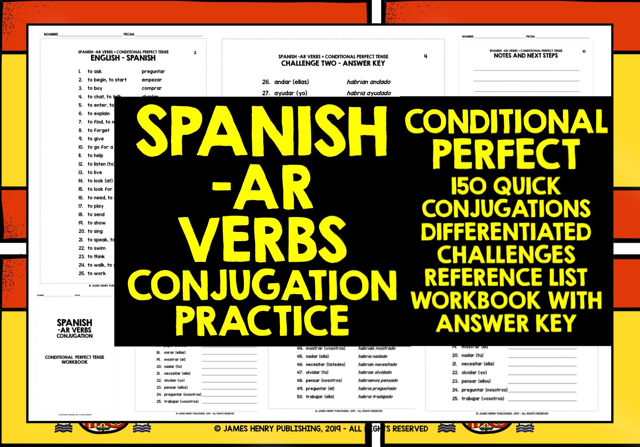 Spanish Ar Verbs Alevel Conditional Perfect Conjugation Practice Teaching Resources Conjugation Practice Spanish Conjugation Practice Spanish Verb Conjugation [ 1431 x 2048 Pixel ]