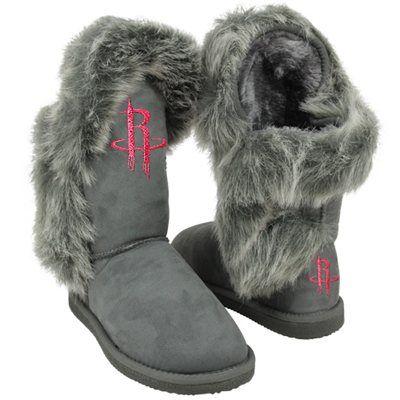 Cuce Shoes Houston Rockets Ladies Fanatic II Boots - Gray