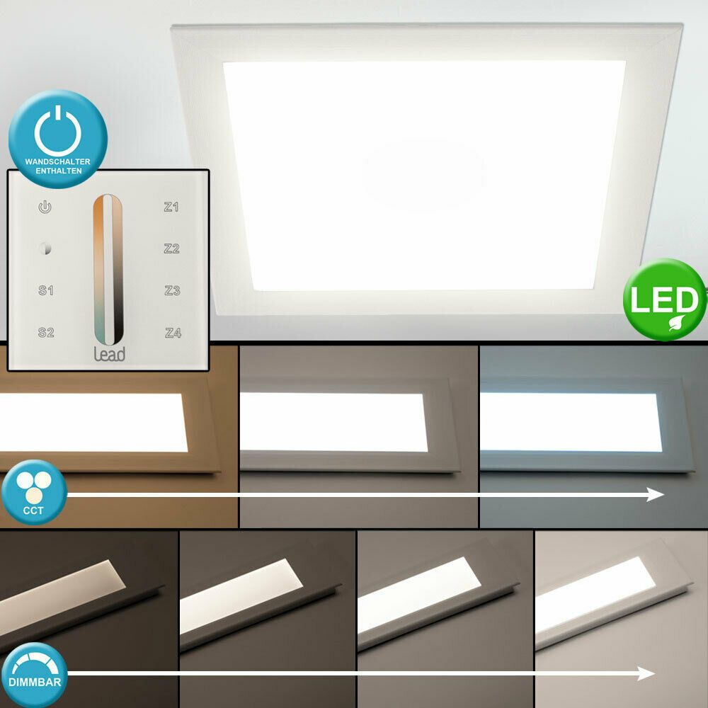 Wandschalter Leuchte Led Panel Einbau Esszimmer Decken Licht Tages j4q5AR3L