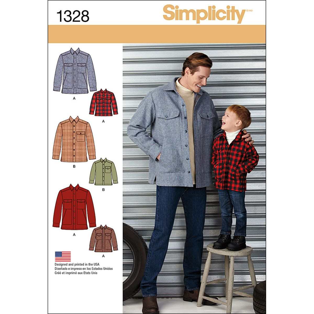 Boys and Mens Knit Pullover Shirts with Variations Size A Simplicity Sewing Pattern 1287