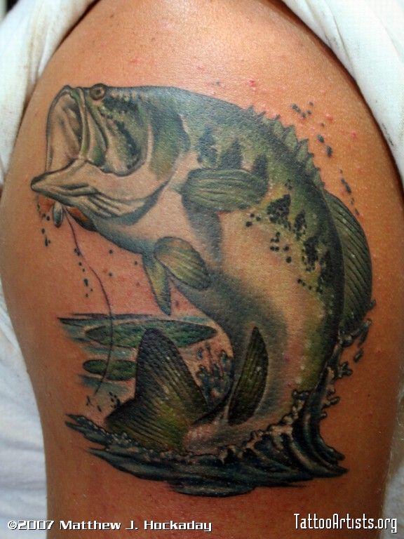 Bass fishing tattoos for men bass fishing tattoos for Fishing tattoos designs