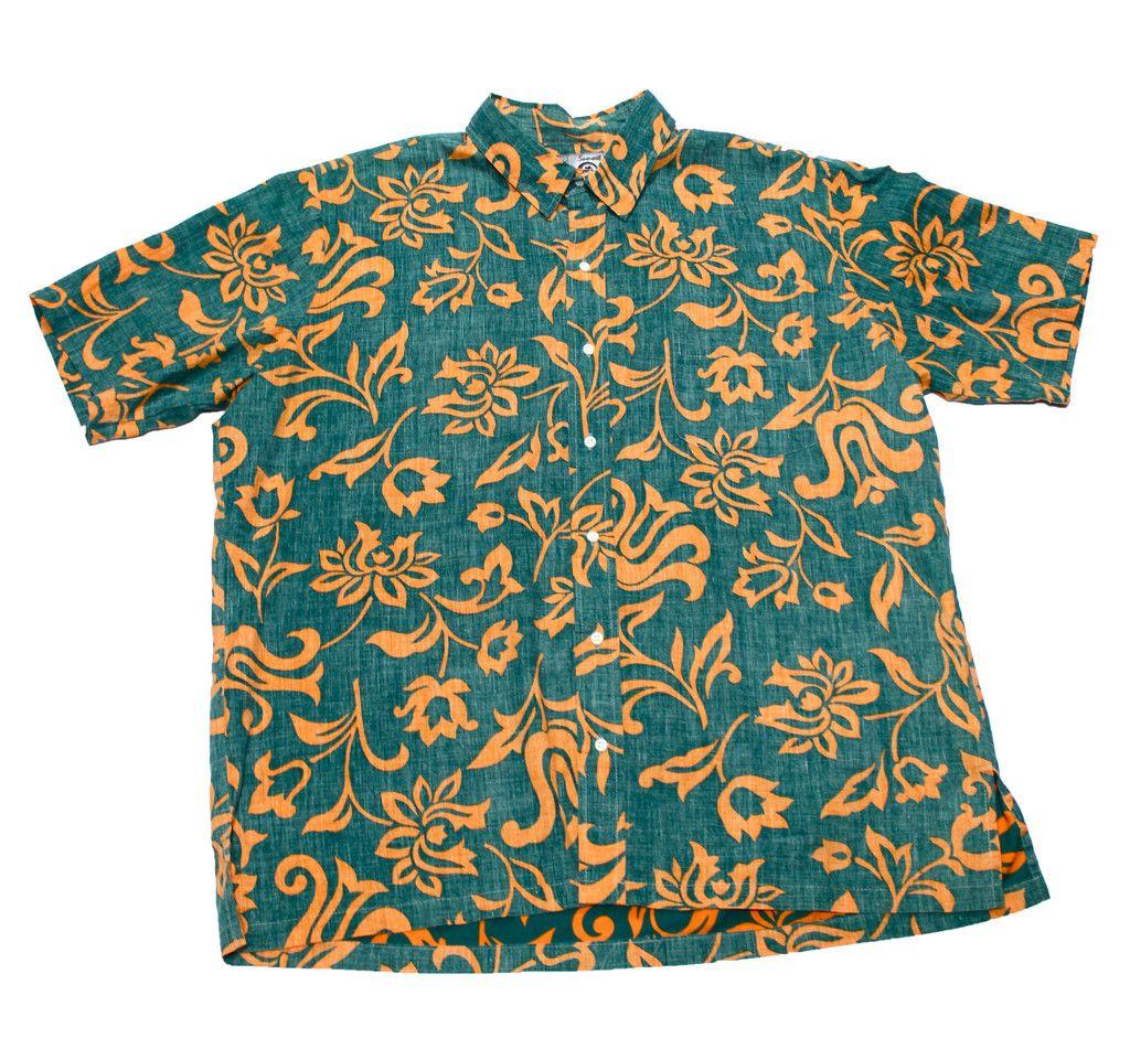 Vintage 90s Green/Orange Hawaiian Shirt Mens Size XXL $30.00