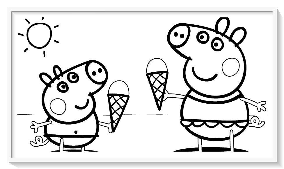 Peppa Pig Para Colorear 120 Imagenes De Peppa Para Pintar Con