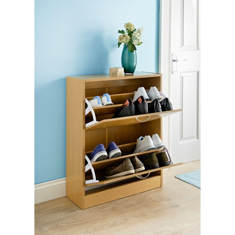 Oak Effect Shoe Caddy | Storage and House