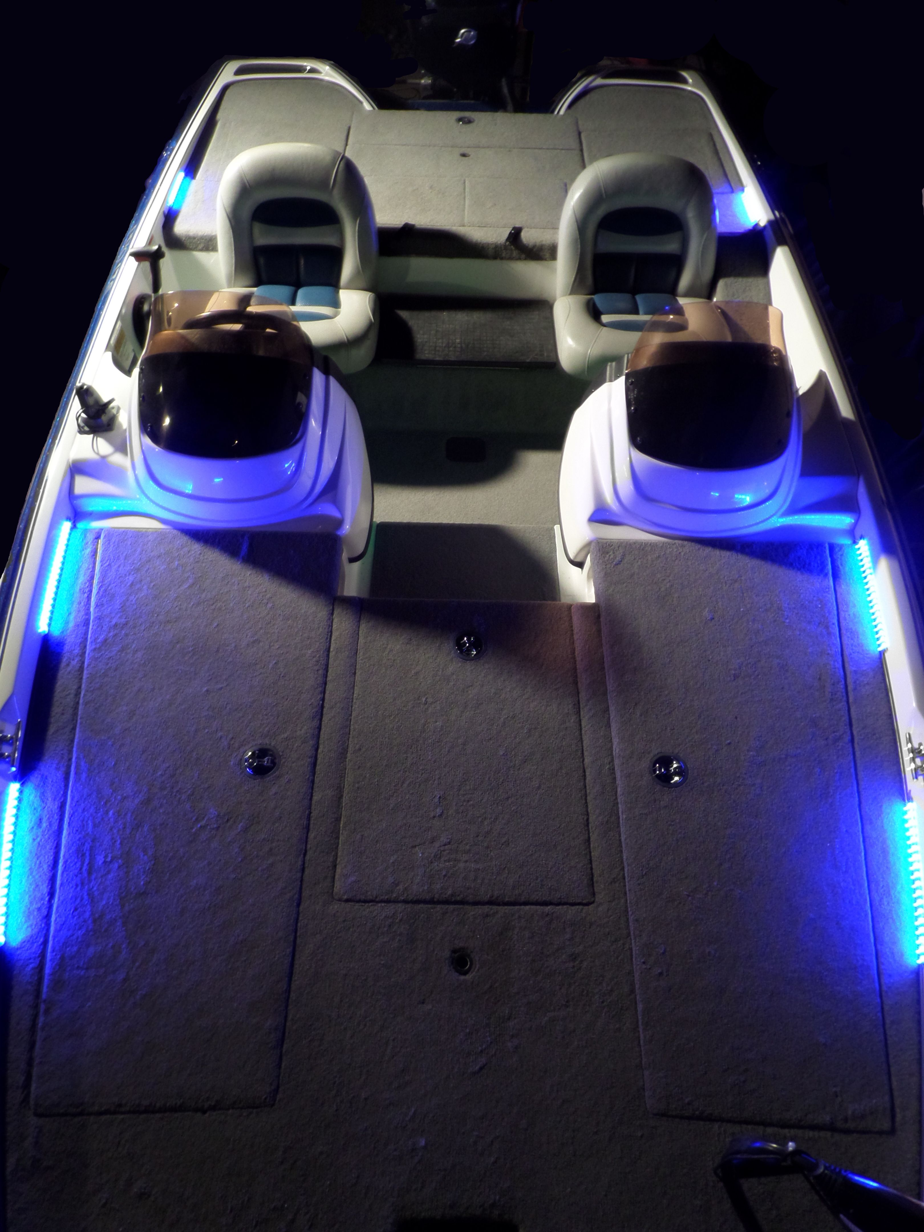 Blue Leds On The Front Deck Of A Pro Craft Bass Boat Available At Smoker Wiring Diagram Waykul Lednet
