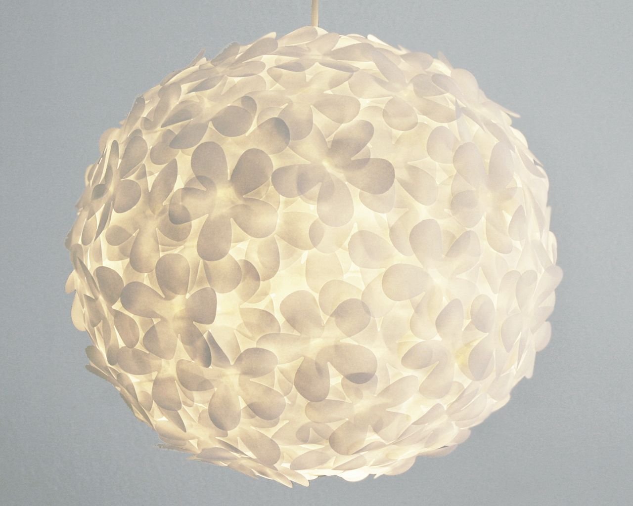 White Paper Flower Pendant Light White Paper Flower Lampshade And