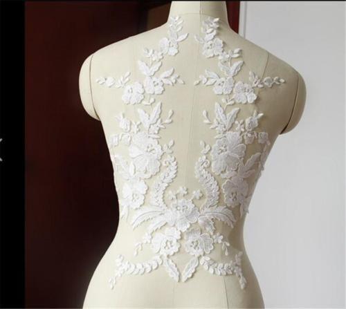 Ivoire-dentelle-mariage-motif-broderie-applique-coudre-on-mariee-applique-trim-1-piece